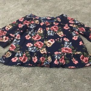 Tops - Navy Floral Top